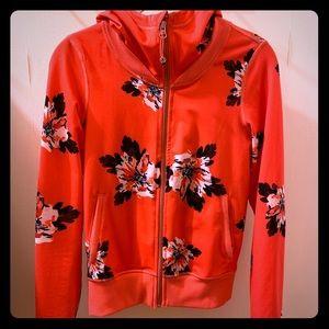 """Lululemon """"Namaskar"""" floral zip up hoodie"""